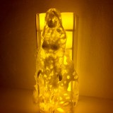 """""""I CAN SHINE"""" is ment to bring some light into dark times. The clear transperant Barbie cast is lid up through the flickering LED candles. It creates a calm and relaxed atmosphere."""