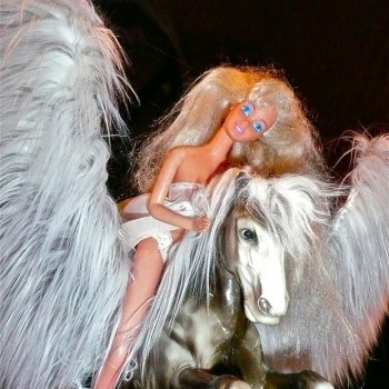 Pegasus, Barbie, flight out of greed, enlightened, Daniela Haskara