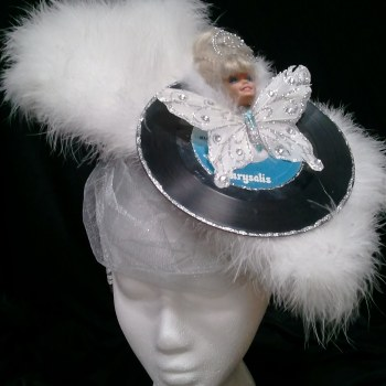 barbie, assemblage, blondie, fascinator, headpiece
