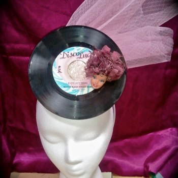 barbie, assemblage, lucy, fascinator, headwear