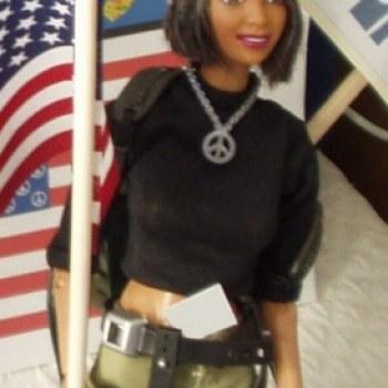 Militant Feminist Grandma Altered Barbie by Debbie Fimrite